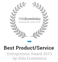 Best Product/Service - Entrepreneur Award 2013 by Vida Económica